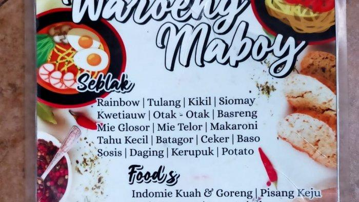 menu seblak maboy
