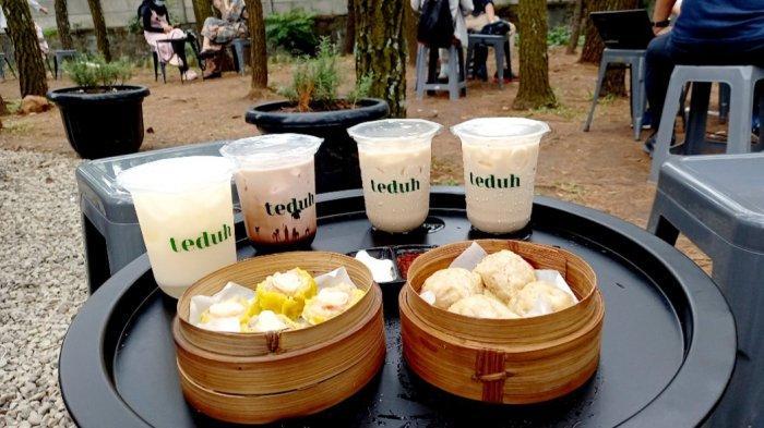 Aneka menu best seller di Teduh Coffee, Jalan Pinus raya, Cinambo, Bandung, di antaranya es kopi susu teduh, ice lychee yakult, Ice chocolate, dan dimsum.