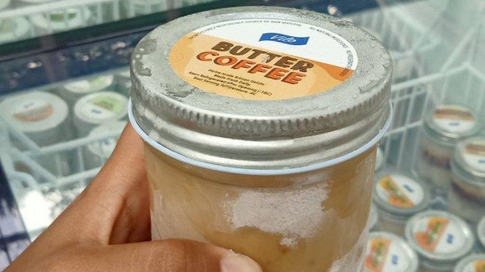 Es krim rasa butter coffe di Vilo Gelato di Jalan Gunung Kareumbi No 7, Ciumbuleuit, Kota Bandung