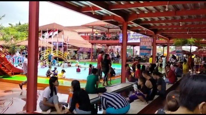 Zamzam Pool yang berada di Desa Manislor, Kecamatan Jalakasana, Sabtu (15/5/2021).