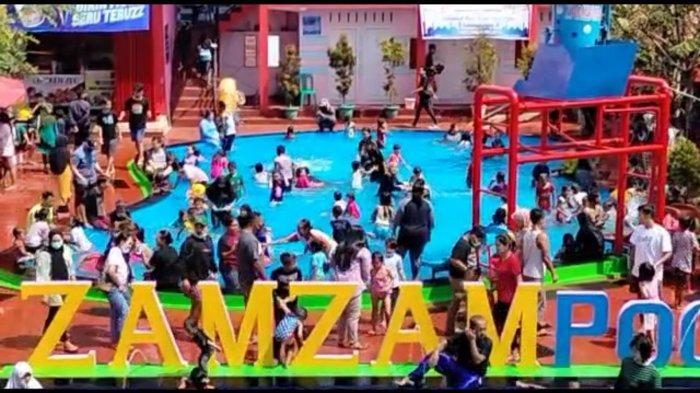 Suasana Zamzam Pool di Desa Manislor, Kecamatan Jalakasana, Sabtu (15/5/2021).