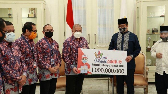 JNE Sumbang 1 Miliar Kepada Pemprov DKI Jakarta Untuk Penanganan Pandemi Covid-19