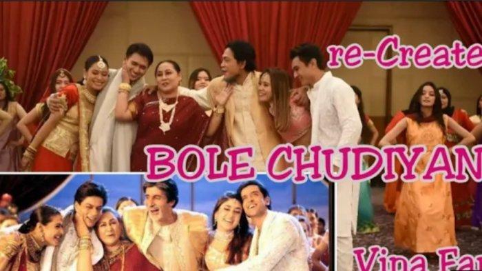 Contoh aksi Bollywood yang diparodikan oleh Fina Van