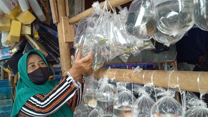 Imas pedagang ikan hioas di Pasar Muara, Kota Bandung