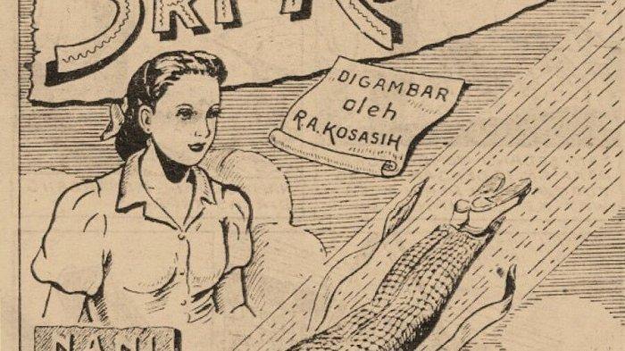 Komik perdana Sri Asih buatan RA Kosasih yang diterbitkan pada 1 Januari 1954 oleh UP Melodie Bandung