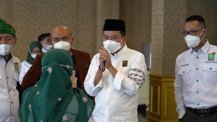 Syaiful Huda kembali ditetapkan sebagai Ketua DPW Partai Kebangkitan Bangsa (PKB) Jabar melalui Musyawarah Wilayah DPW PKB Jawa Barat, di GH Universal Hotel, Kota Bandung, Sabtu (9/1).