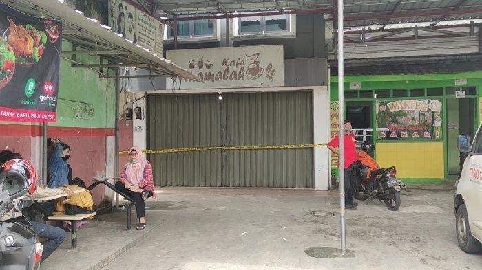Suasana Pasar Muamalah di Beiji Depok pascapendirinya ditangkap polisi, Kamis (4/2/2021)