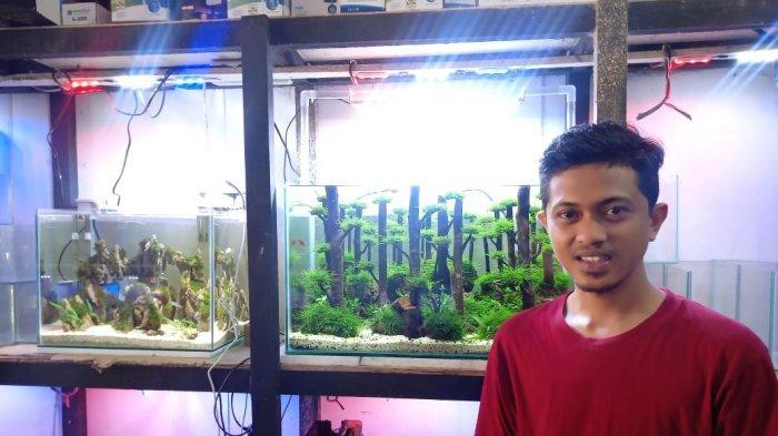 Aad membuka toko Aquascapenya di Jalan Sunan Giri Suka Karya, Kota Baru, Jambi.