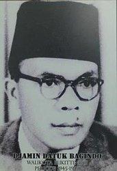 Djamin Datuk Bagindo, Acting Gubernur Provinsi Jambi saat Mekar dari Sumatera Tengah