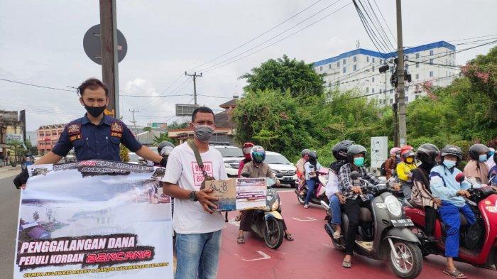 Galang Dana Peduli Bencana Dari Komunitas Motor Honda PCX Jambi