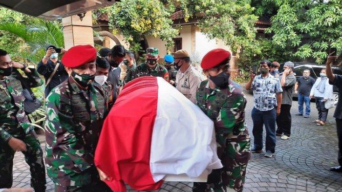 Jenazah Eks KSAD Jenderal (Purn) TNI Wismoyo Arismunandar