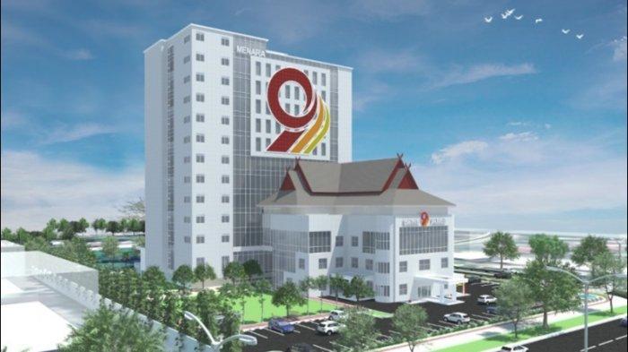 Menanti Berdiri Megahnya Menara 9, Gedung 12 Lantai Milik Bank Jambi