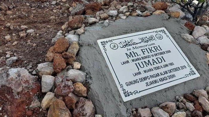 Prasasti untuk mengenang Muhammad Fikri dan umadi