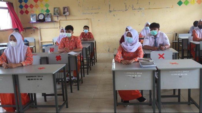 SMA Negeri 1 Batanghari Mulai Belajar Tatap Muka, Siswa dan Siswi Belum Maksimal Lakukan Ini