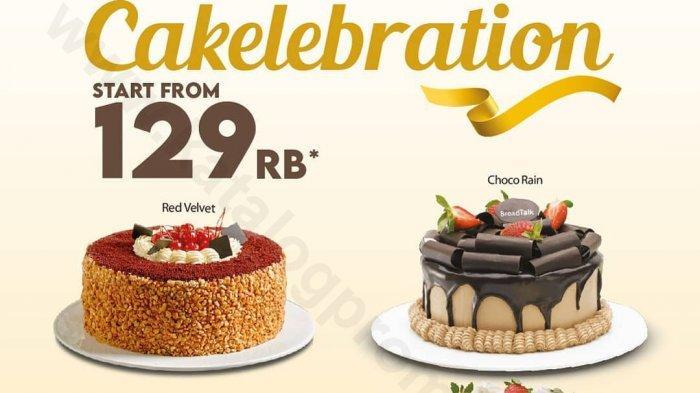 Jangan lewatkan promo Cakelebration BreadTalk mulai Rp 129 ribu periode 5-9 Oktober 2020 untuk seluruh gerai BreadTalk di Indonesia dan melalui portal