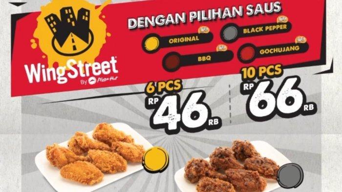 Chicken wing street by PHD hadir dengan 4 pilihan rasa original, blackpepper, BBQ, dan Gochujang, harga mulai Rp 46 ribu 6 buah dan Rp 66 ribu 10 buah