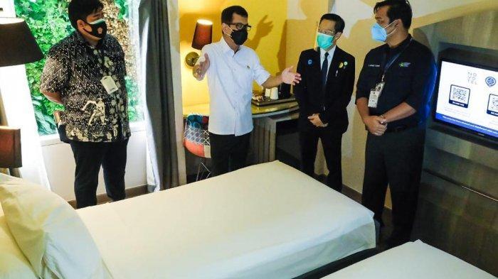 Kemenparekraf/Baparekraf bersama Kementerian Kesehatan dan pihak terkait berupaya memastikan kesiapan hotel dalam memberikan layanan bagi masyarakat.