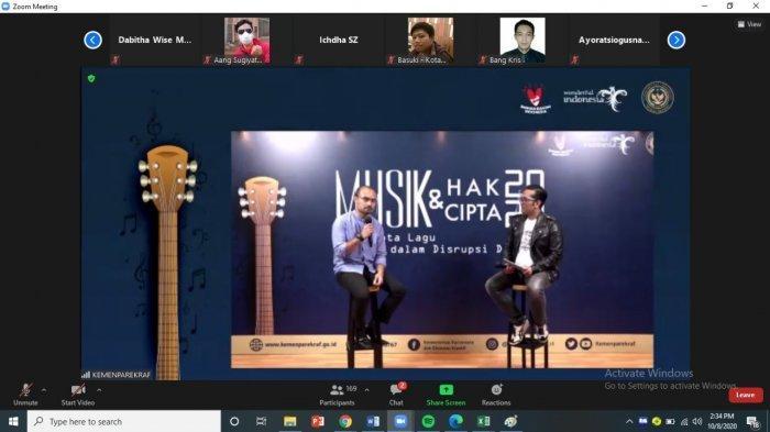 Kemenparekraf/Baparekraf dorong musisi untuk memperkuat pemahaman bersama mengenai hak cipta atas karya, terutama saat ini ketika digitalisasi.