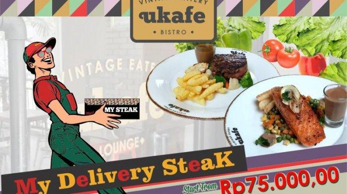 Layanan Pesan-Antar Menu Steak Ukafe Eatery and Vintage Meotel Jember by Dafam