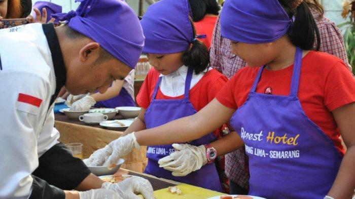 Little Master Cooking Class, Seru-seruan Memasak di Hotel Quest Simpang LimaSemarang Bagi Anak-Anak