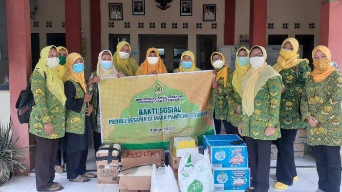 Pengajian Al Hidayah Jateng Salurkan Sembako Untuk Korban Banjir di Kabupaten Pati