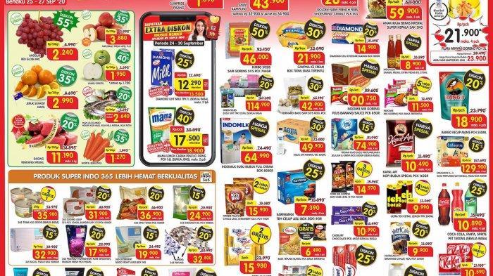 Promo Super Indo super segar Jumat-Sabtu-Minggu periode 25-27 September 2020 dan dapatkan diskon hingga 50% untuk berbagai kebutuhan dan produk segar.