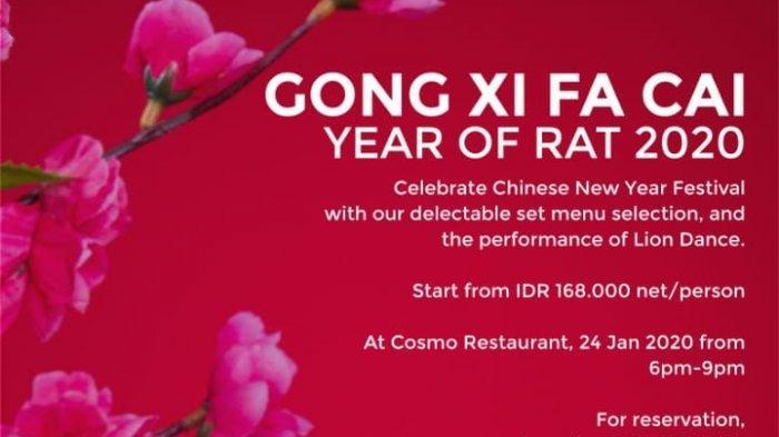 Quest Hotel Semarang Tawarkan Makan Malam Imlek Cuma Rp 168 Ribu Per Orang