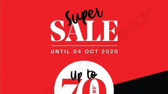 The Executive kembali hadirkan super sale, diskon hingga 70% untuk koleksi pakaian formal hingga kasual, promo berlangsung hingga 4 Oktober 2020.