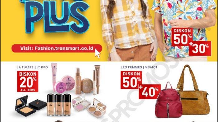 Katalog promosi akhir pekan selama Jumat, Sabtu, dan Minggu Transmart Carrefour periode 2-8 Oktober 2020 tawarkan diskon hingga 50% tambah 50%.