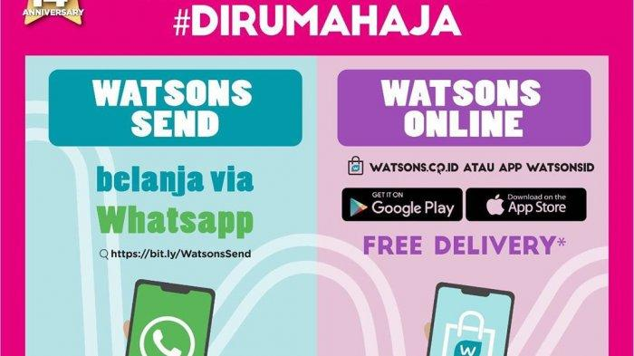 Promo spesial akhir pekan dari Watsons datang kembali, tukar 1 poin dapat gratis produk ke-2, periode 15-18 Oktober 2020, bisa gratis pesan-antar juga