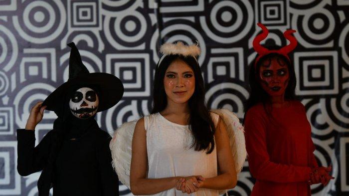Makeup angel dan devil