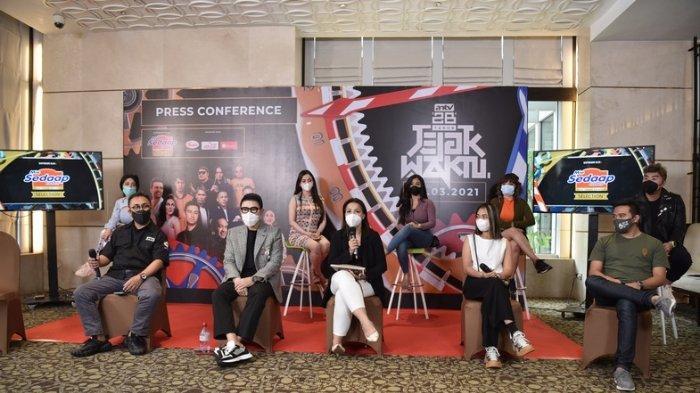 Press conference gelaran 'Jejak Waktu' yang dihadiri langsung oleh Ahmad Zulfikar selaku Presiden Direktur ANTV dan beberapa artis kenamaan yang menjadi bintang tamu.
