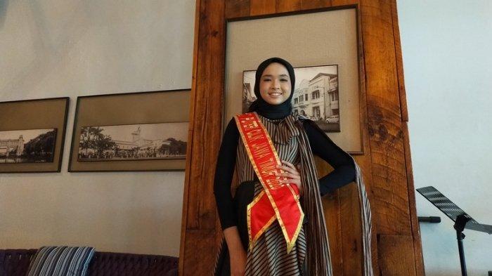 Salah satu peserta Puteri Cilik Jawa Timur 2020, Marsha Niswah Chiara Verin (12) asal Mojokerto.