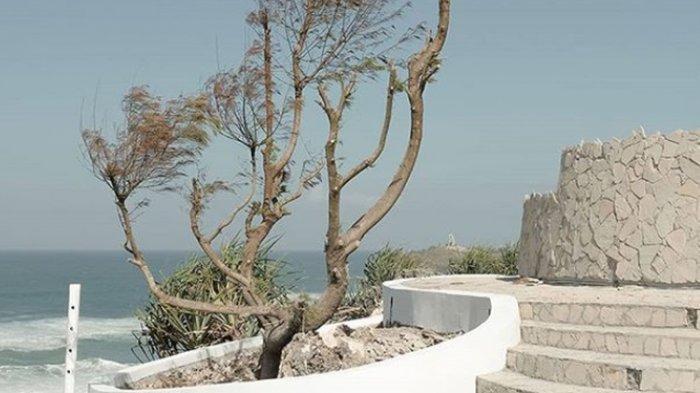 Lokasi South Shore di Gunungkidul yang menawarkan pemandangan indah