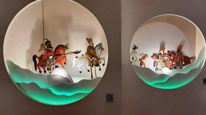 "Koleksi yang dipamerkan di pameran temporer ""Harmoni Cina-Jawa dalam Seni Pertunjukan""."