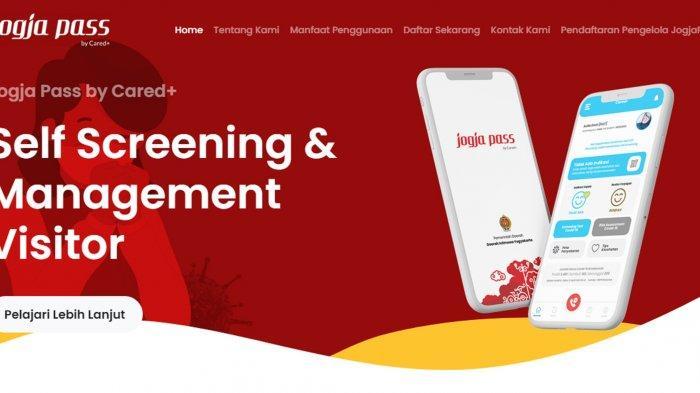 Warga Jogja Dapat Melakukan Self Screening Covid-19 dengan Mengakses Aplikasi Jogja Pass.