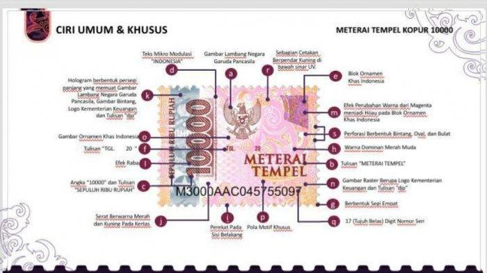 Wajah Baru Materai Tempel yang Dikeluarkan Direktorat Jenderal Pajak