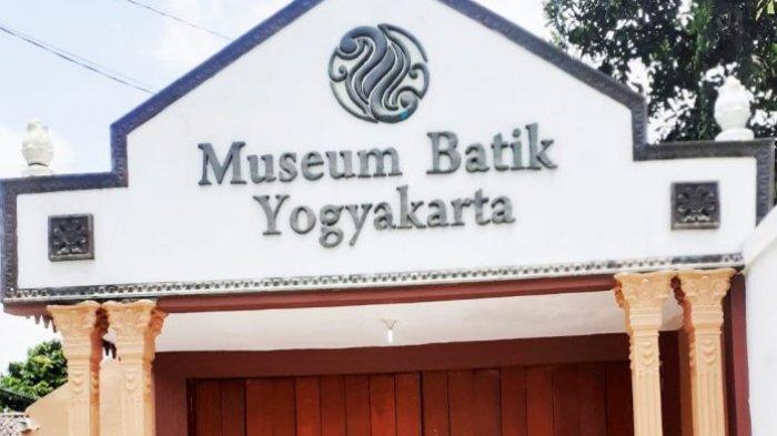 Bangunan bagian depan museum batik Yogyakarta.