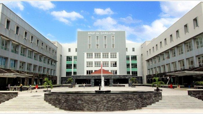 Bangunan bagian depan RSUP Dr Sardjito Yogyakarta.