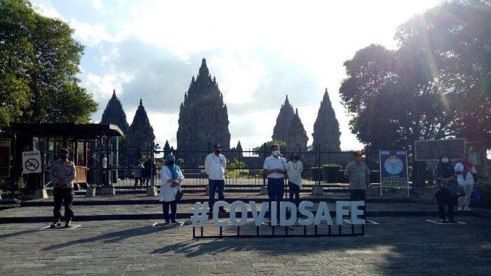Susul Borobudur, Candi Prambanan Lakukan Simulasi Penerapan Standar New Normal di Kawasan Wisata