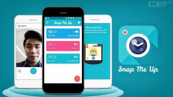 Aplikasi Snap Me Up, dijamin tidak akan bangun kesiangan.