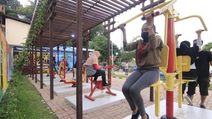 Mulai Ramai Orang, Taman Samarendah jadi Tempat Favorit Warga Untuk Berolahraga