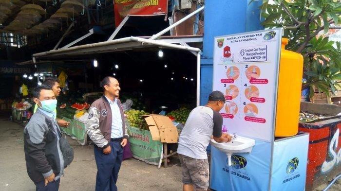 Wabah Corona, Jaga Kebersihan, Tersedia 100 Tempat Cuci Tangan di Sejumlah Pasar di Samarinda