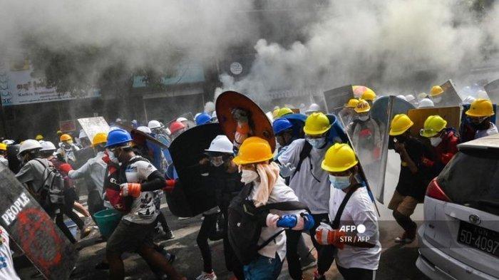 Protes Kudeta Militer di Myanmar Makin Besar, Mengingatkan Peristiwa 1998 di Indonesia