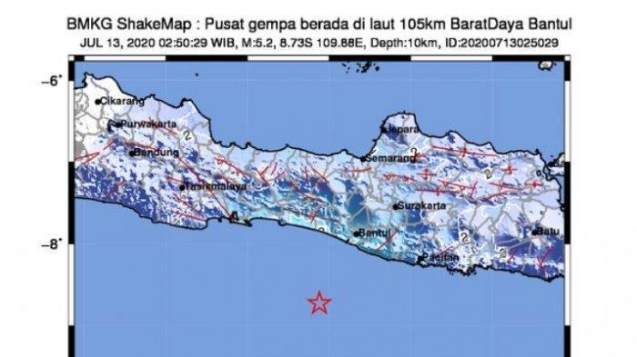 Gempa Hari Ini Magnitudo 5,2 Berpusat di Bantul, Getaran Terasa hingga Yogyakarta dan Pacitan
