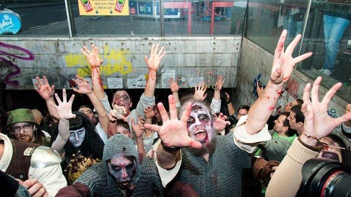 Ilustrasi. Festival zombie