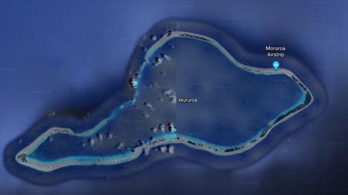 Setengah Wilayah Pulau Mururoa Diburamkan Google Maps, Ada Apa di Sana?