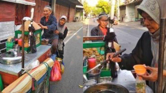 Habiskan Sisa Hidup Bersama, Kakek & Istrinya Rela Kayuh Gerobak Belasan Kilometer Berjualan Bakso