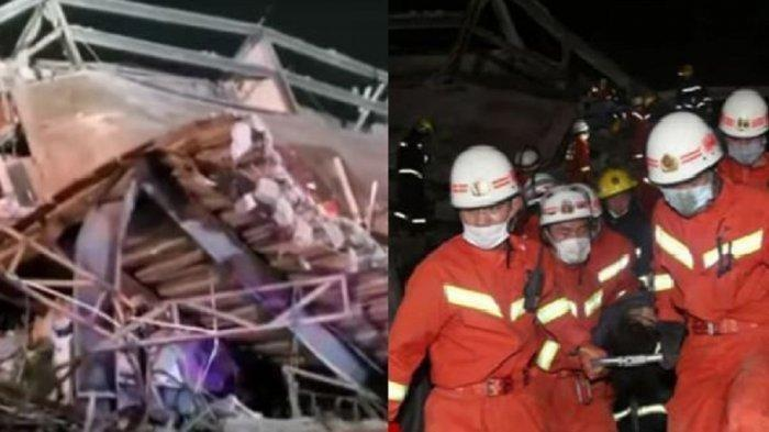 VIRAL Hotel Penampungan Pasien Positif Corona di China Runtuh, 70 Orang Terjebak di Reruntuhan