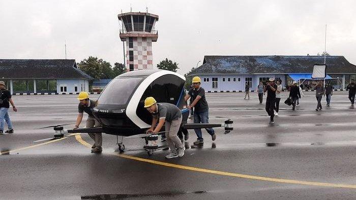 Taxi Drone Pertama Indonesia di Bantul Jogja, Bisa Angkut 2 Orang